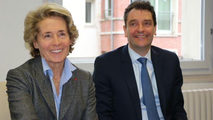 Caroline Cayeux, maire de Beauvais, et Michel Schietequatte, directeur Maschio Gaspardo France, ont confirmé leur envie de collaborer. (©TNC)