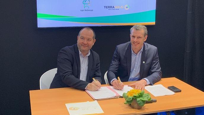 Marc Le Mercier, fondateur de Liger BioConcept et Maximin Charpentier, président de Terrasolis. (©TNC)