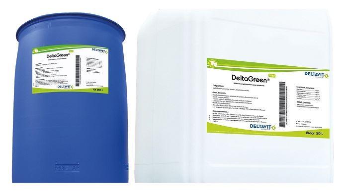 Deltavit présente Delta green, une spécialité nutritionnelle liquide qui stimule l'ingestion des ruminants. (©Deltavit)