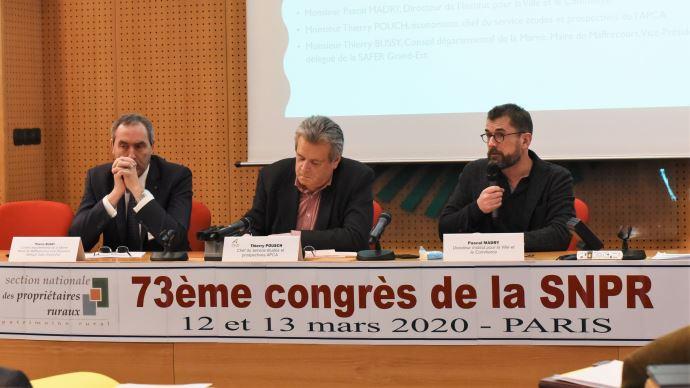 Thierry Bussy, Thierry Pouch et Pascal Madry le 13 mars, au congrès de la SNPR à Paris. (©TNC)