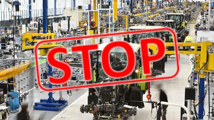 Les constructeurs de machines agricoles annoncent tour à tour la fermeture de leurs usines européennes. (©Claas/Création TNC)