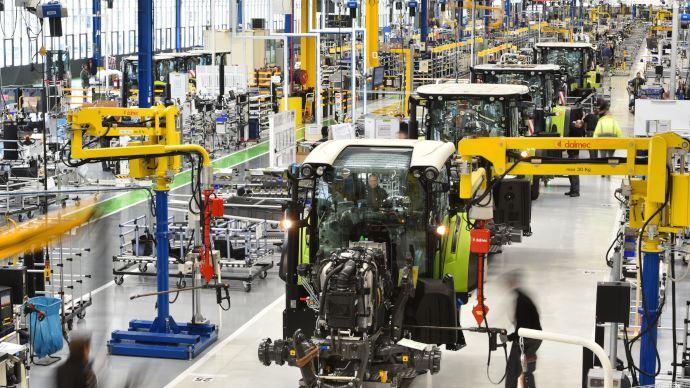 L'usine de tracteurs Claas installée au Mans cesse la production jusqu'à nouvel ordre. (©Claas)