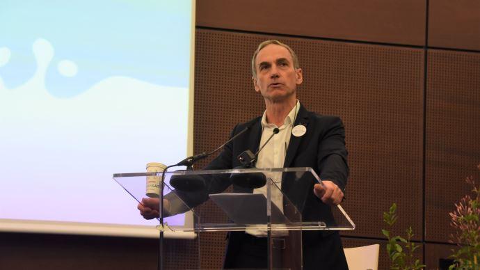 Thierry Roquefeuil, président de la FNPL, conclut le congrès de l'organisation le 12 mars 2020, à Cherbourg (©TNC)