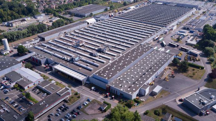 L'usine Agco de Beauvais, qui fabrique les tracteurs Massey Ferguson est à l'arrêt en raison de la pandémie de Covid-19. (©Massey Ferguson)