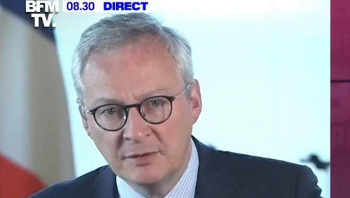 Le ministre de l'économie a annoncé l'élargissement des aides financières à davantage d'entreprises. (©capture d'écran BFM)