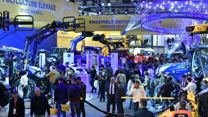 Le stand New Holland sur le Sima 2019. (©TNC)