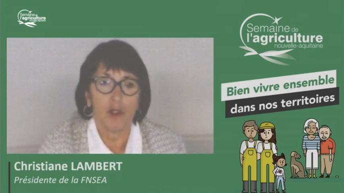 Christiane Lambert prône le dialogue pour reconnecter agriculteurs et citadins. (©TNC)