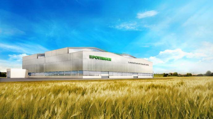 Pöttinger démarre la construction de sa quatrième usine, le troisième gros projet en Autriche. (©Pöttinger)