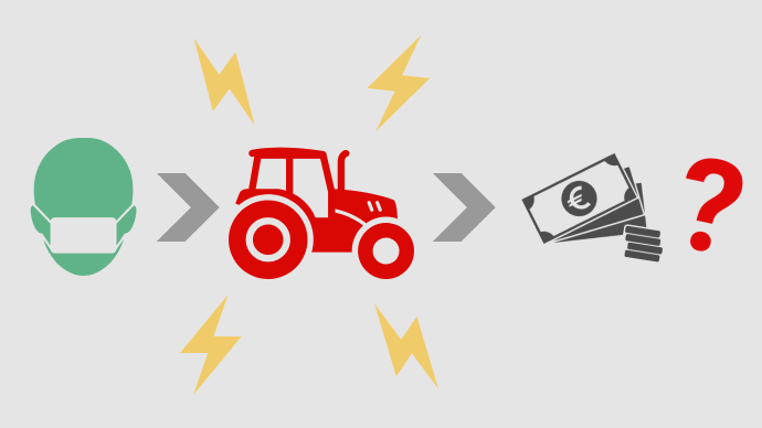 La crise liée au Covid-19 touche aussi les exploitations agricoles, qui peuvent prétendre à plusieurs dispositifs de soutien (©TNC)