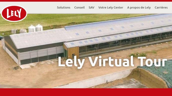 Lely met en place une tournée de visites virtuelles d'exploitations agricoles. (©Lely)