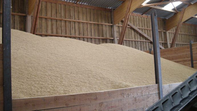 Une fois stocké, le grain chaud provenant du champ doit être refroidi très rapidement. (©TNC)