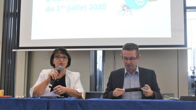Christiane Lambert et Jérôme Despey ont respectivement été réélus présidente et secrétaire général de la FNSEA, le 1er juillet (©TNC)
