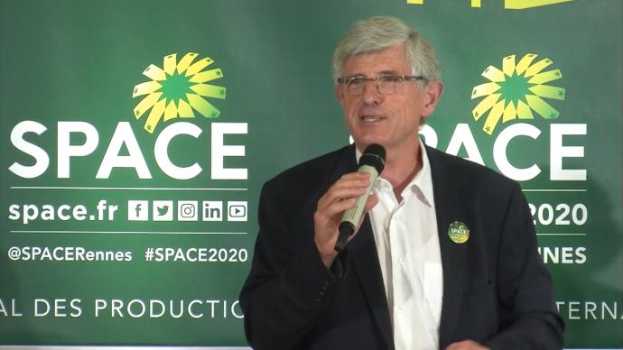 Le président du Space, Marcel Denieul, a dévoilé le 15 juillet les nouveautés de cette édition qui se tiendra essentiellement en ligne en raison de la crise sanitaire (©TNC)