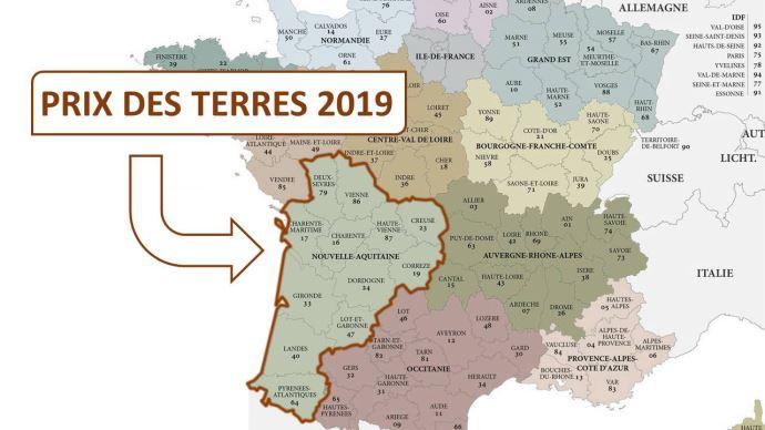 En 2019, le prix moyen de l'hectare libre est de 5090€ en Nouvelle-Aquitaine. (©TNC)