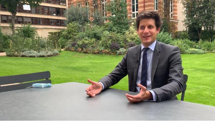 Julien Denormandie, dans les jardins du ministère de l'agriculture, a accordé une interview à Terre-net.fr jeudi 3 septembre, pour évoquer sa feuille de route ministérielle. (©TNC)