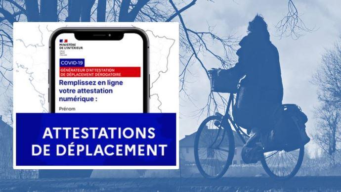 Confinement: les justificatifs de déplacement sont disponibles en ligne sur le site du ministère de l'Intérieur, ou via l'application TousAntiCovid. (©Pixabay/Gouvernement)