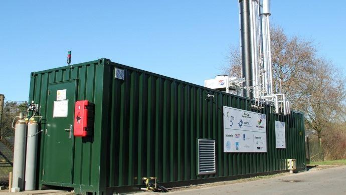 Greenmac propose une épuration du biogaz via le lavage aux amines, ce qui diffère des systèmes classiques d'épuration par membrane. (©Greenmac)