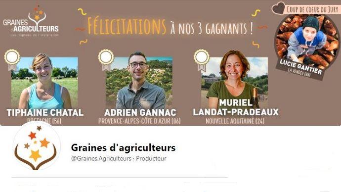 Deux jeunes agricultrices lauréates et une
