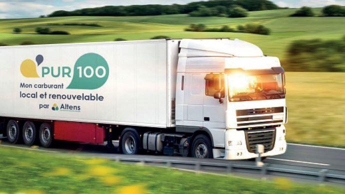 L'entreprise française Altens présente sa gamme de carburants alternatifs d'origine agricole ou d'huiles végétales retraitées. (©Altens)