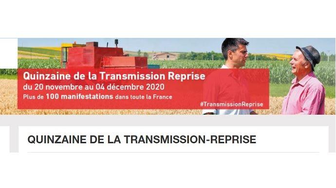 Cédants et repreneurs: n'hésitez pas à participer aux nombreux événements virtuels de la Quinzaine de la transmission/reprise 2020! (©Chambres d'agriculture France)