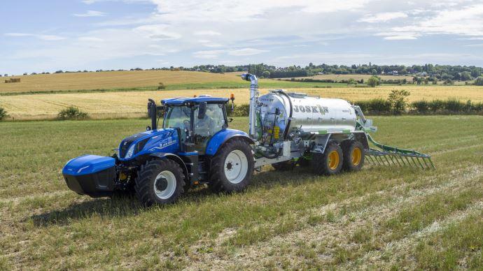 Le tracteur New Holland fonctionnant au méthane débarque dans les fermes en 2021. (©New Holland)