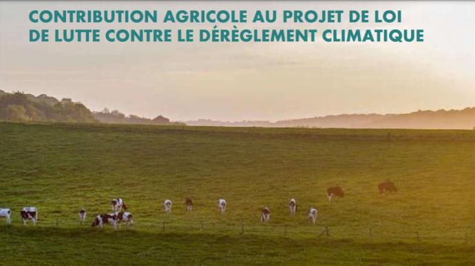 Avant l'examen du projet de loi Climat par les députés, la FNSEA et JA alertent les élus sur les points problématiques pour le monde agricole. (©FNSEA JA)