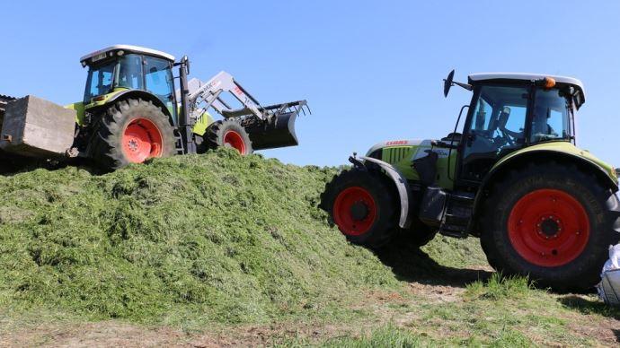 L'inoculation de l'herbe par un conservateur ne doit pas faire oublier les bonnes pratiques d'ensilage, à savoir la récolte au bon stade, un tassage suffisant et une fermeture hermétique du silo. (©TNC)