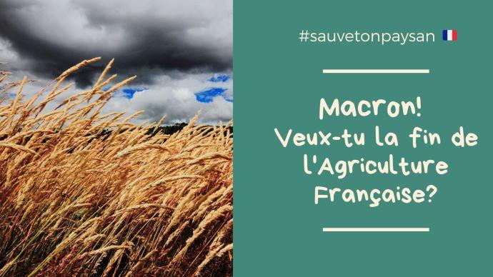 Les agriculteurs du grand bassin parisien manifestent et interpellent Emmanuel Macron sur l'avenir de l'agriculture française (©FNSEA JA)