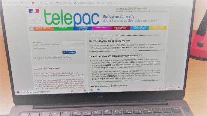 Le site Telepac est ouvert depuis le 1er avril pour le dépôt des dossiers Pac (©TNC)