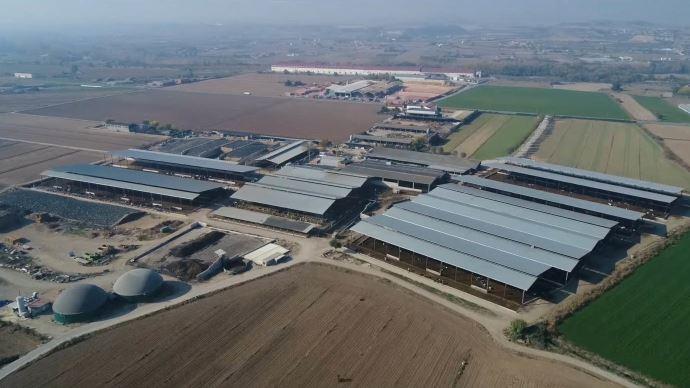 La ferme laitière catalane Terra Santamaria produit 22 millions de litre de lait pour le groupe Lactalis chaque année. (©Weltec Biopower)
