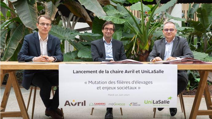 La signature du partenariat entre UniLasalle et le groupe Avril a eu lieu ce mardi 22 juin 2021. (©Aurélien Mahot)