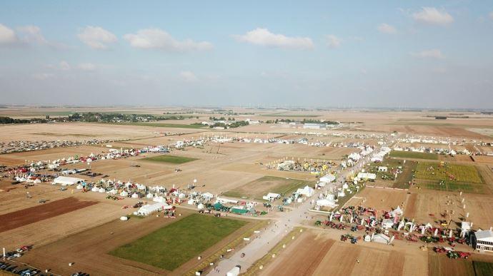 Innov-agri 2021 s'étend sur un site de 100ha, à Outarville dans le Loiret. (©Faimali/GFA)