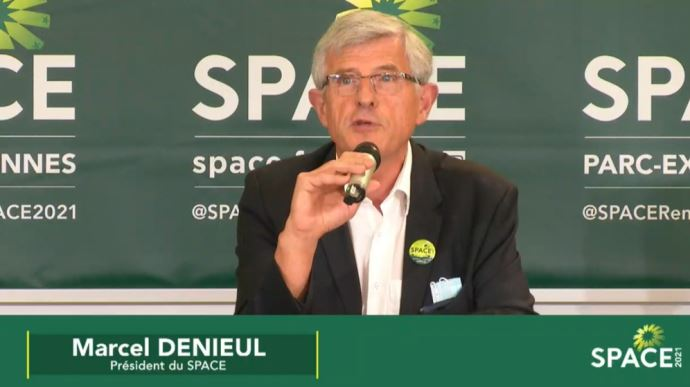 Marcel Denieul, président du Space, lors d'une conférence de presse le 31 août 2021. (©TNC)