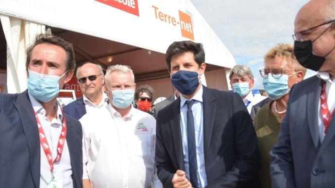 La visite de Julien Denormandie intervenait dix jours après le lancement de «l'Agri FrenchTech». (©TNC)