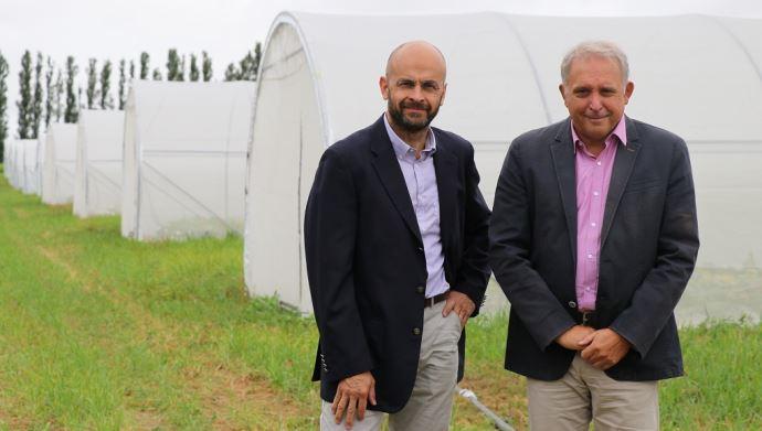 De gauche à droite: Remi Lefevre, directeur général de Saaten-Union, et Eric Verjux, président du groupe Deleplanque. (©Deleplanque et Saaten-Union)