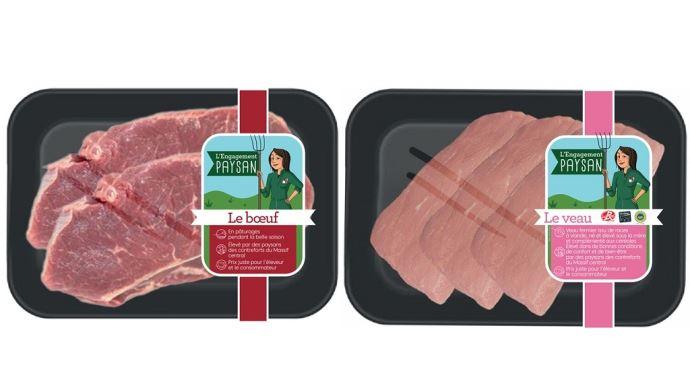 Qualité, territorialité, durabilité et équité sont les 4 piliers de cette nouvelle marque de viande éthique: L'engagement paysan par la coopérative Unicor. (©Unicor)